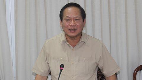 Bộ trưởng Trương Minh Tuấn phát biểu tại buổi làm việc