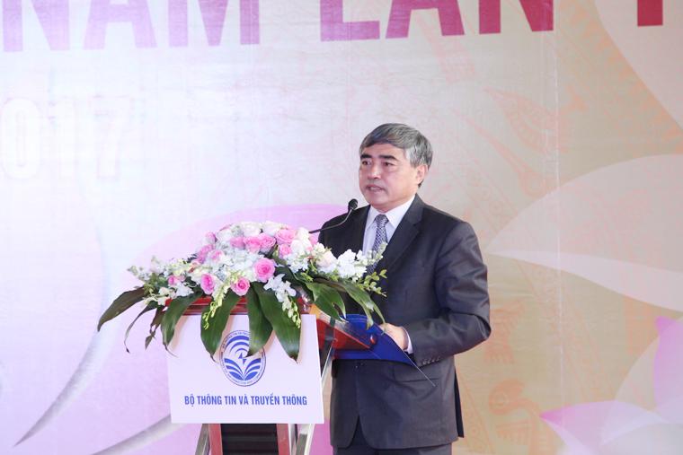 Thứ trưởng Bộ TT&TT Nguyễn Minh Hồng phát biểu tại Lễ khai mạc Ngày Sách Việt Nam lần thứ 4.
