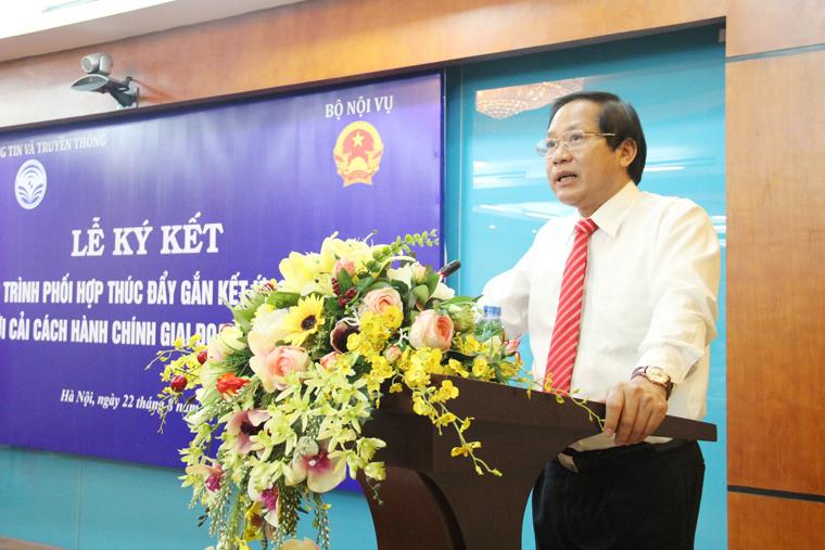 Bộ trưởng Trương Minh Tuấn phát biểu tại Lễ ký kết