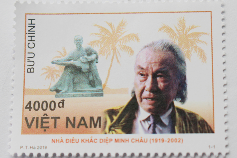 """Phát hành bộ tem bưu chính """"Kỷ niệm 100 năm sinh Diệp Minh Châu"""""""